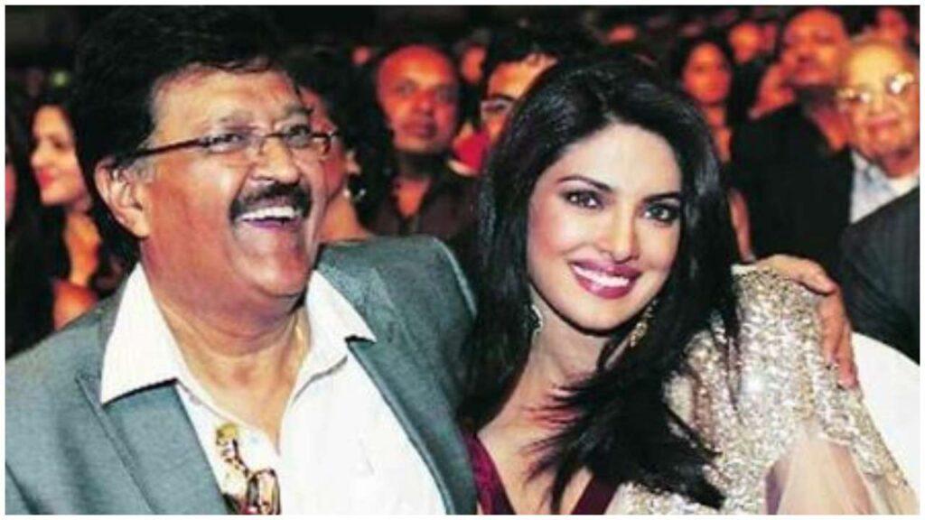Priyanka Chopra with her Father