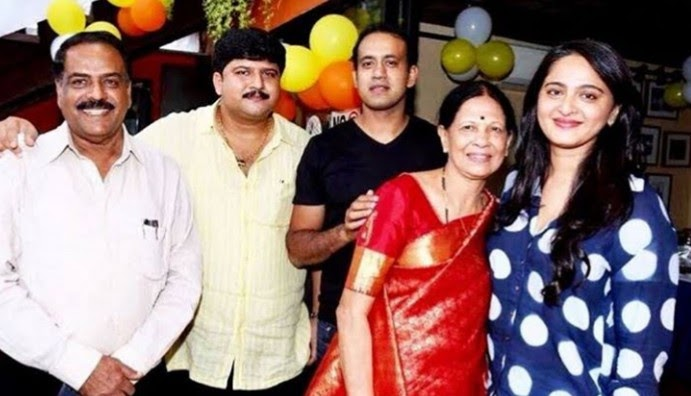 Anushka with her Family