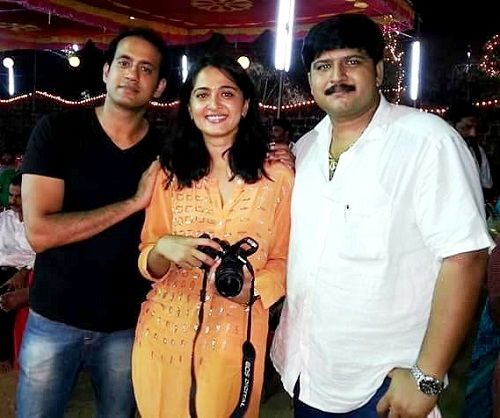 Anushka with her brother