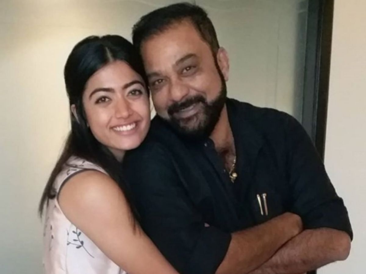 Rashmika Mandanna with her father