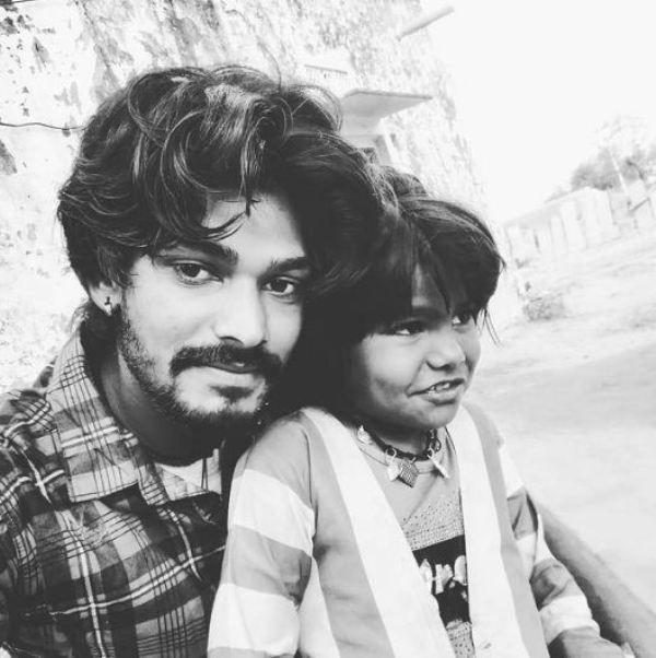 Sawai Bhatt with his sister