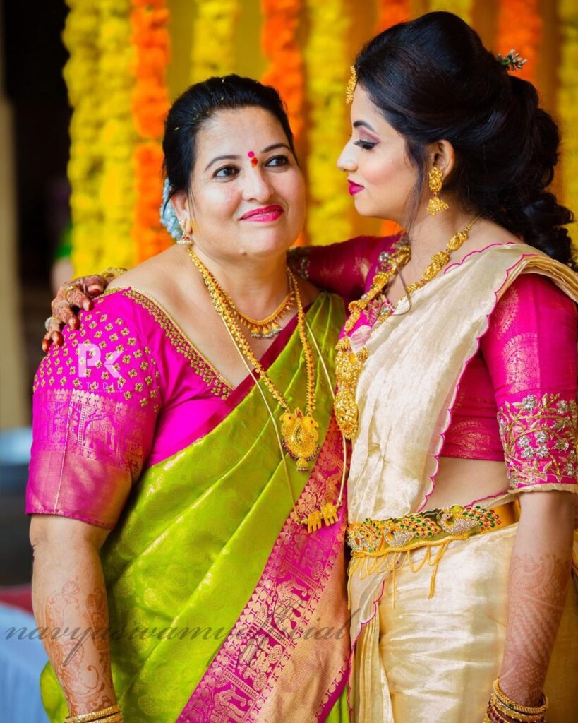 Navya Swamy with her Mother