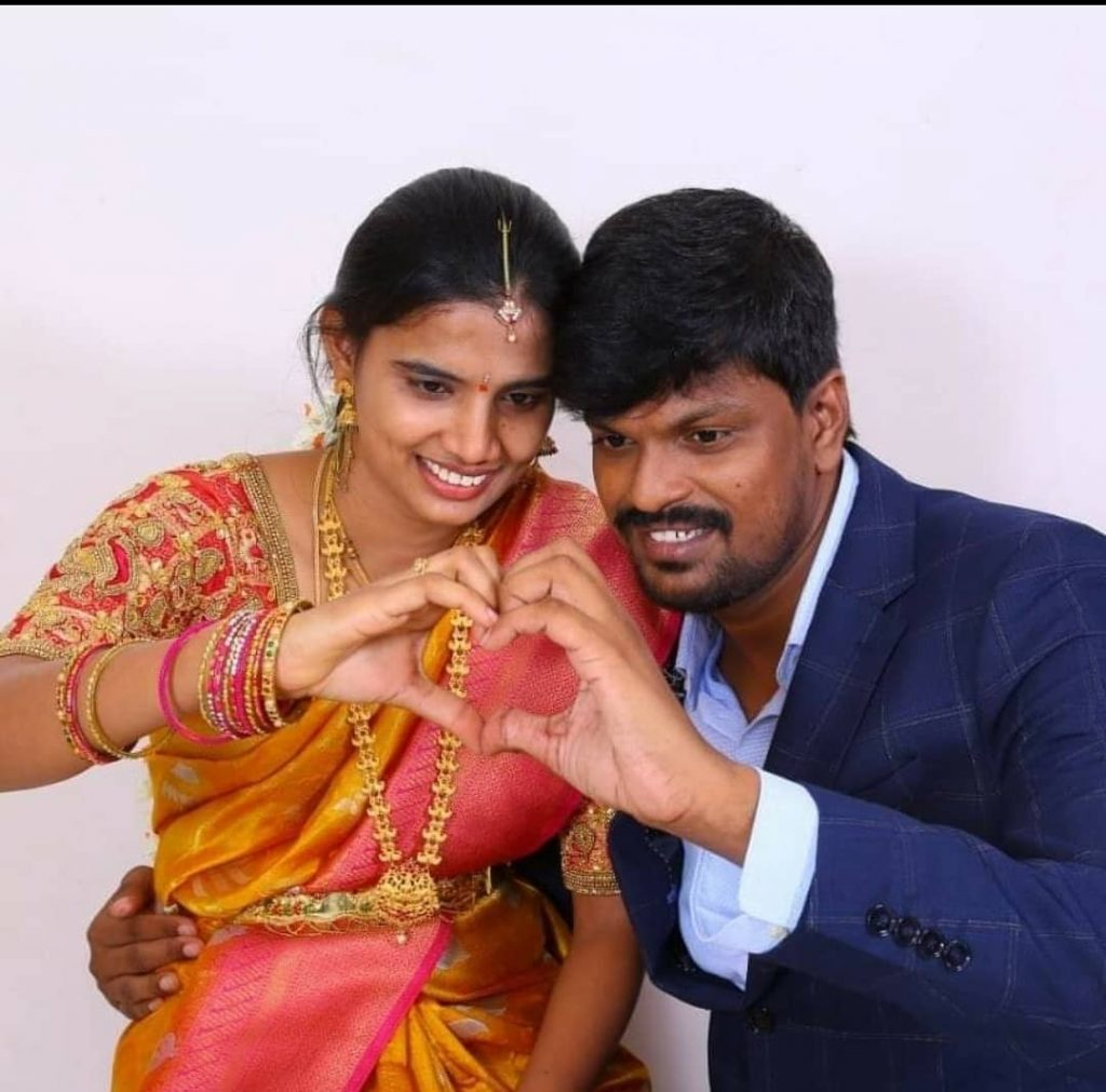 Adi Reddy with his wife Kavitha