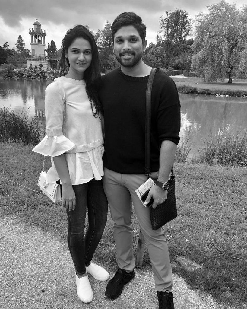 Allu Arjun and Sneha Reddy