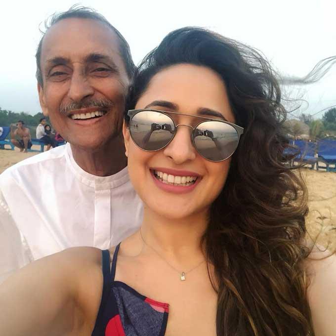 Pragya Jaiswal with her father