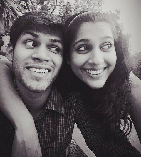 Rashmi Gautam with her Brother