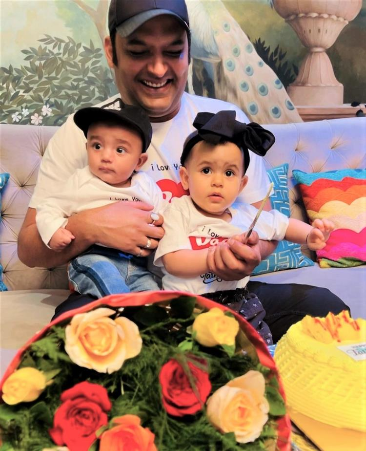 Sharma With his son and Daughter