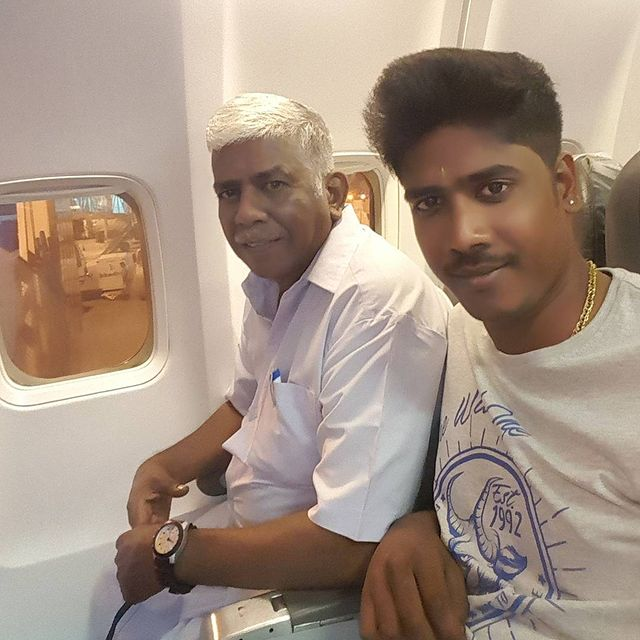 RJ Vinoth with his father