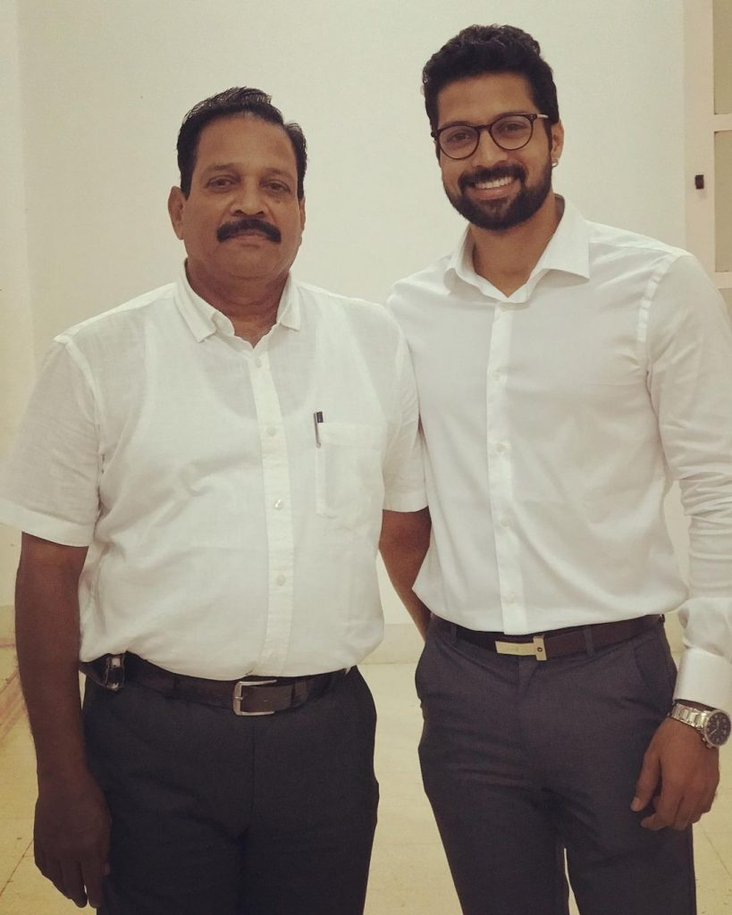 Santhosh with his Father