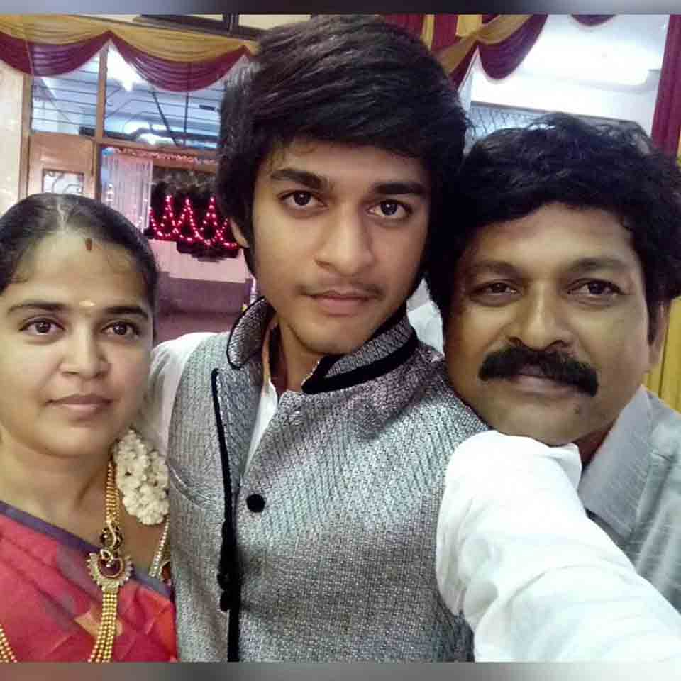 Saran Shakthi with his Father and Mother