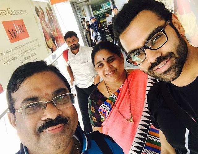 Sreerama Chandra with his parents