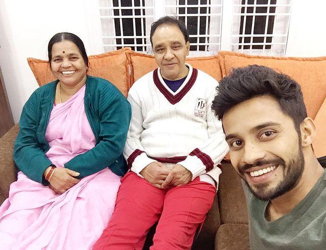 Vishwa with his Parents