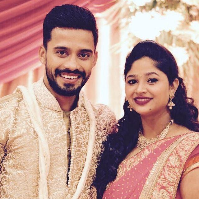 Vishwa with his wife Shraddha