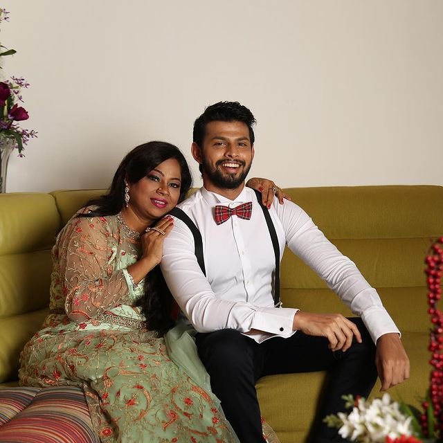 Varun with his mother