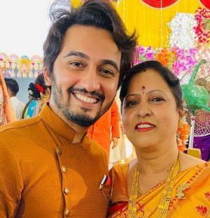 Vikas Patil With his Mother