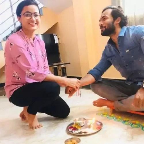 Vishal Nikam with His Sister